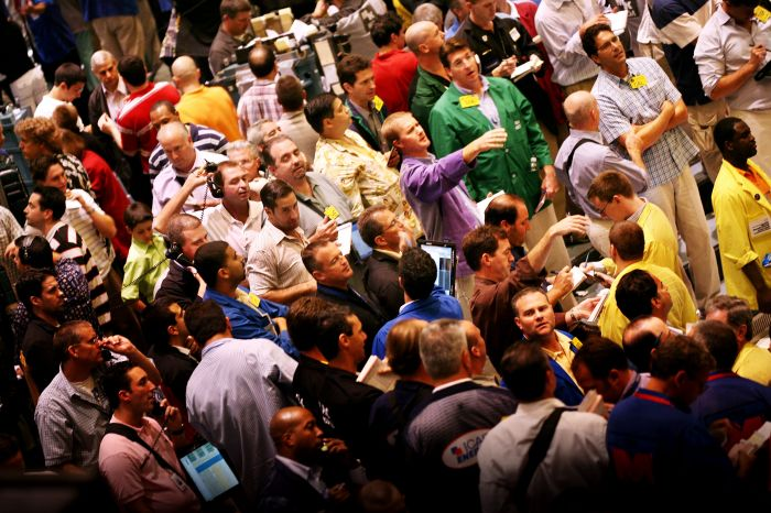 Handlargolv på råvarubörsen Nymex (New York Mercantile Exchange), New York, 2006-08-15 Källa: alfakanal.se